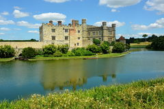 English Medieval Castle with Moat Royalty Free Stock Photography