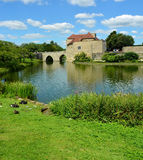 English Medieval Castle with Moat Stock Image