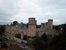 English Medieval Castle. Warwick Castle is a medieval castle developed from an original built by William the Conqueror in 1068 Stock Image
