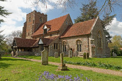 English Medieval Village Church Royalty Free Stock Photography