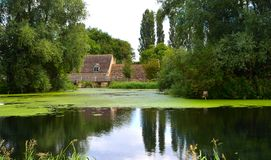 English Mill Pond and Watermill Royalty Free Stock Photos