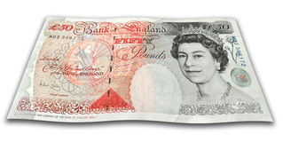 English Money Fifty Pounds Royalty Free Stock Images