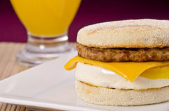 English muffin breakfast Stock Images