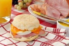 English muffin breakfast sandwich Stock Photo