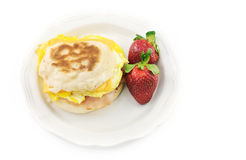English Muffin With Egg Ham and Cheese Stock Photos