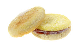 English Muffin Frozen Top Leaning Royalty Free Stock Photos