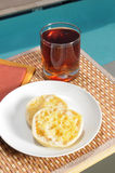 English muffin and juice Stock Image