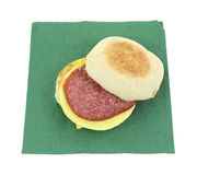 English Muffin Open Green Napkin Royalty Free Stock Photos