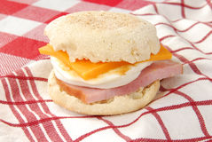 English muffin sandwich Stock Photo