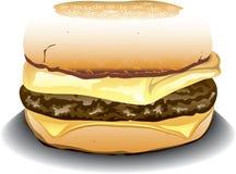 English Muffin sandwich. Illustration of an english muffin sandwich with sausage, egg and cheese vector illustration