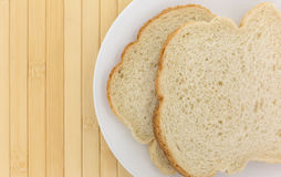 English muffin toasting bread slices on a plate Stock Photography
