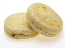 English muffins in a white background Royalty Free Stock Photography