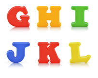 English multi colour alphabet with clipping path Stock Images