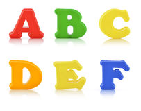English multi colour alphabet with clipping path Stock Photos