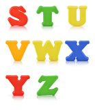 English multi colour alphabet with clipping path Stock Photo