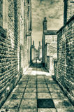 English Narrow Back Street HDR Royalty Free Stock Photo