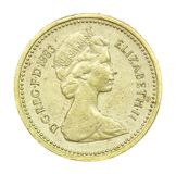 English one pound coin of 1983 Royalty Free Stock Photo