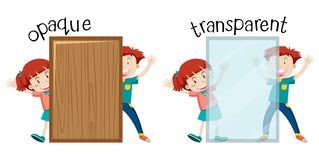 Free English Opposite Word Opaque And Transparent Royalty Free Stock Photo - 130451545