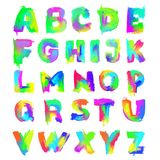 English painted alphabet Royalty Free Stock Photography