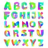 English painted alphabet Royalty Free Stock Photography