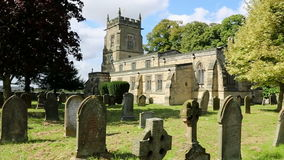 English Parish Church - Yorkshire - HD with sound. An English Parish Church in a small country village in North Yorkshire in the United Kingdom stock footage