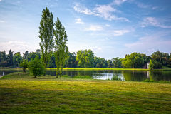 English park of Woerlitz. Stock Image