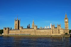 English Parliament from across the River Thames Stock Photos
