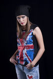 English Patriotic Woman Stock Photography