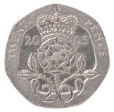 English pence coin Royalty Free Stock Images
