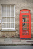 English phone booth. Suffolk UK Royalty Free Stock Photography