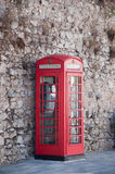 English phone booth. Comunication cityscape Stock Photo