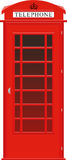 English phone booth Royalty Free Stock Photography