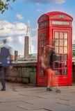 English phone booth Stock Photos
