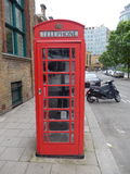 English phonebooth in the city of London - UK Stock Photo