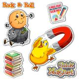 English phrase for chick magnet and rock & roll Stock Image