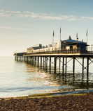 English Pier by the sea tradititonal structure Royalty Free Stock Images