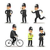 English Policeman Cartoon. Police Officer Stock Photo