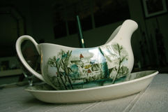 English porcelain saucer Royalty Free Stock Images