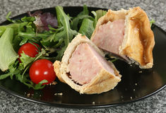 English pork pie Stock Photos