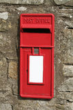 English Post Box. Traditional in the wall Post Box, which are still in use today Royalty Free Stock Image