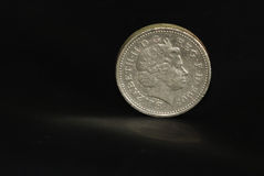 English Pound Coin Stock Images