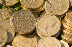 English Pound Coins Stock Photos