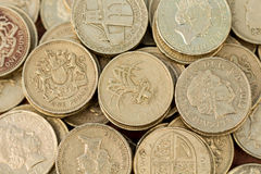English Pound Coins Royalty Free Stock Image