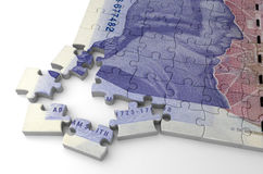 English Pound Puzzle Royalty Free Stock Photography