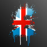 English Pound splatter element. Vector illustration of a conceptual ink splatter in the shape of the United Kingdom Pound currency symbol Royalty Free Stock Photography