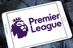 English premier league logo. Logo of english premier league on samsung tablet stock photography