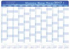 English printable Organizer planner, Calendar 2017. Stock Photos