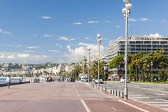 English promenade in Nice royalty free stock photo