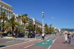 English promenade in Nice Stock Image