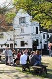 English pub. 'Ye Olde Trip to Jerusalem' is the oldest pub in England (Nottingham Royalty Free Stock Photography